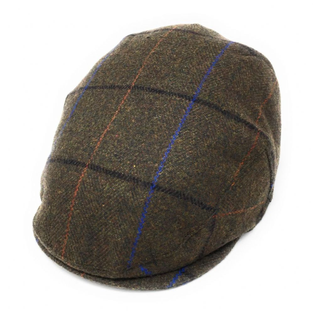 Cheshire Wool  Tweed Flat Cap - Brown